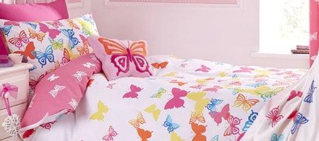 Kids Bright Butterflies Bedlinen Collection Dunelm