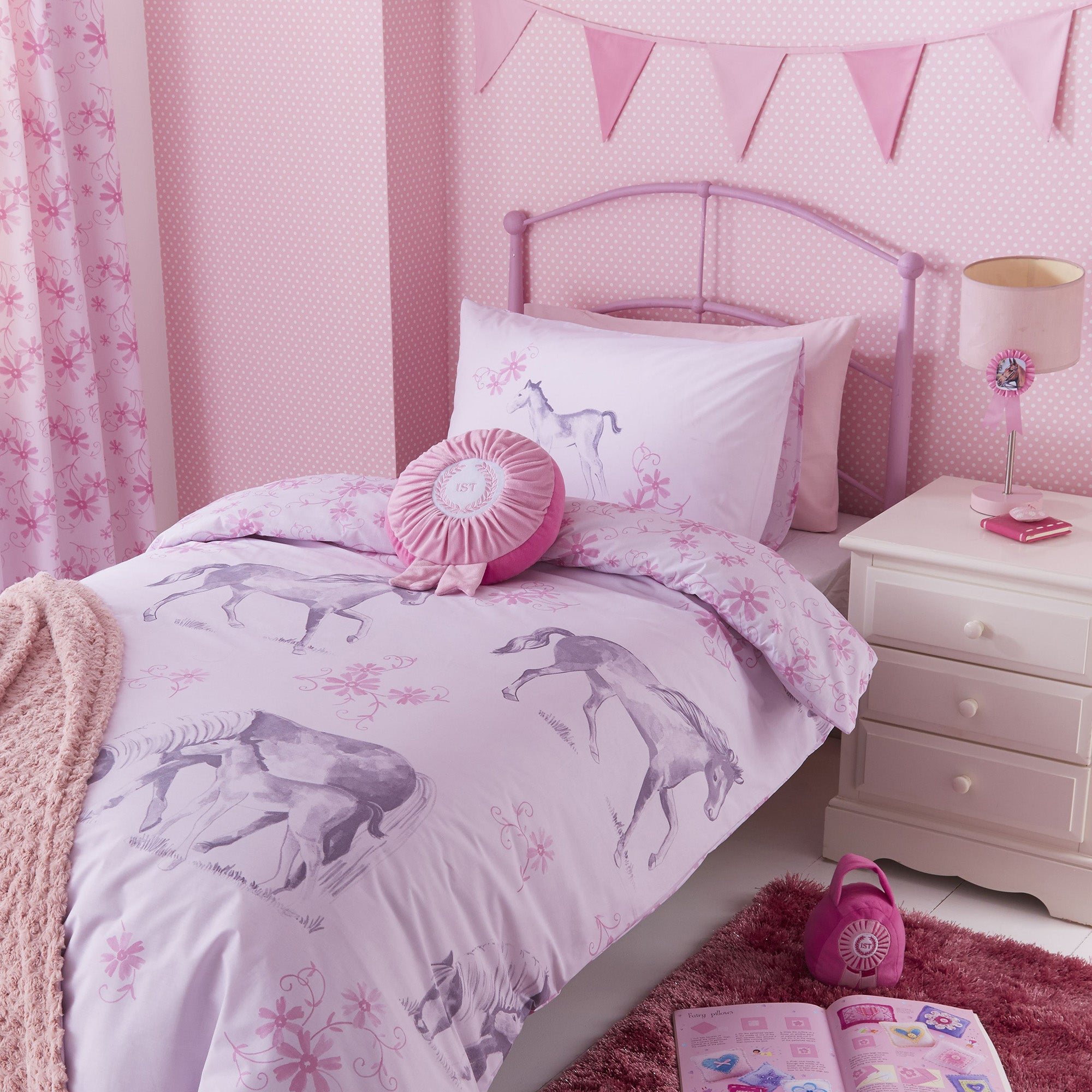 Kids Pink Ponies Bedlinen Collection