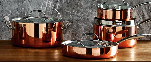 Infinity Copper Tri Ply Pan Collection