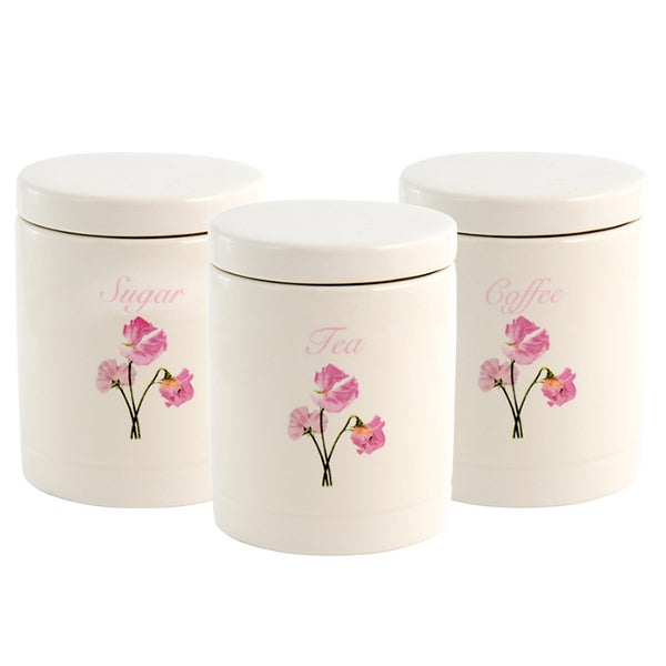Sweet Pea Kitchen Canister Collection