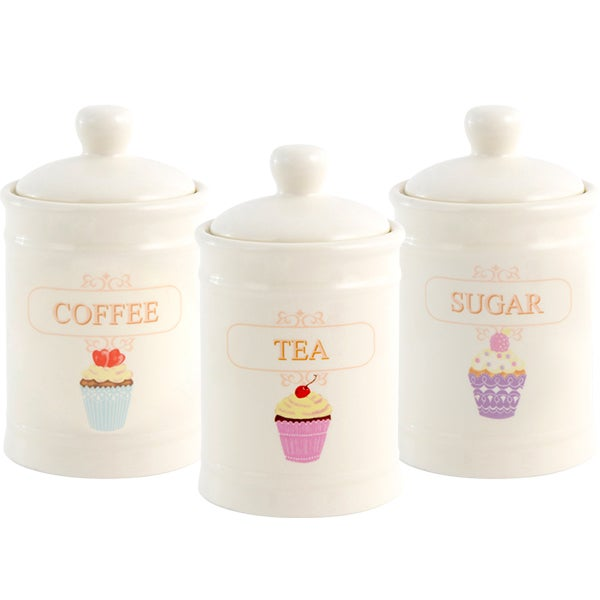 Tea Party Kitchen Canister Collection