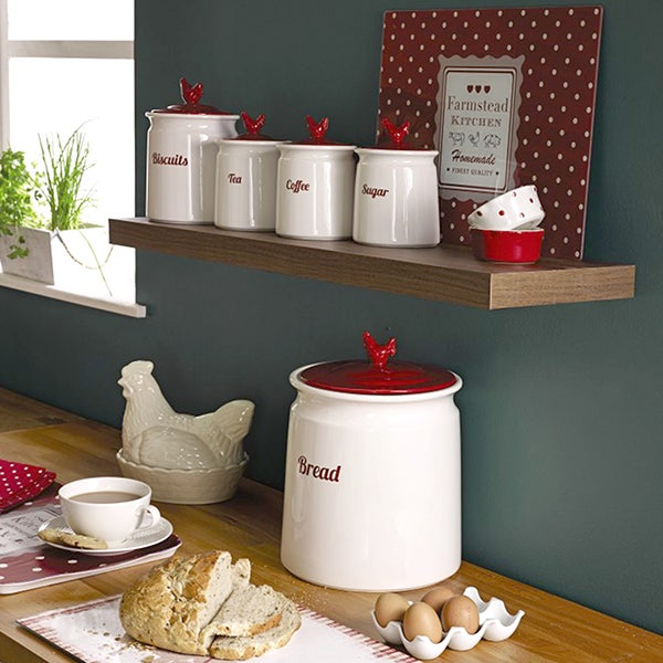 Rooster Kitchen Canister Collection