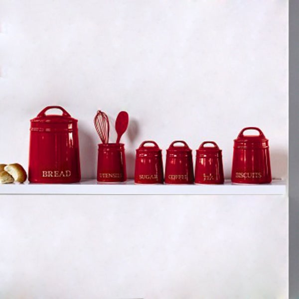 Red Farmhouse Kitchen Canister Collection