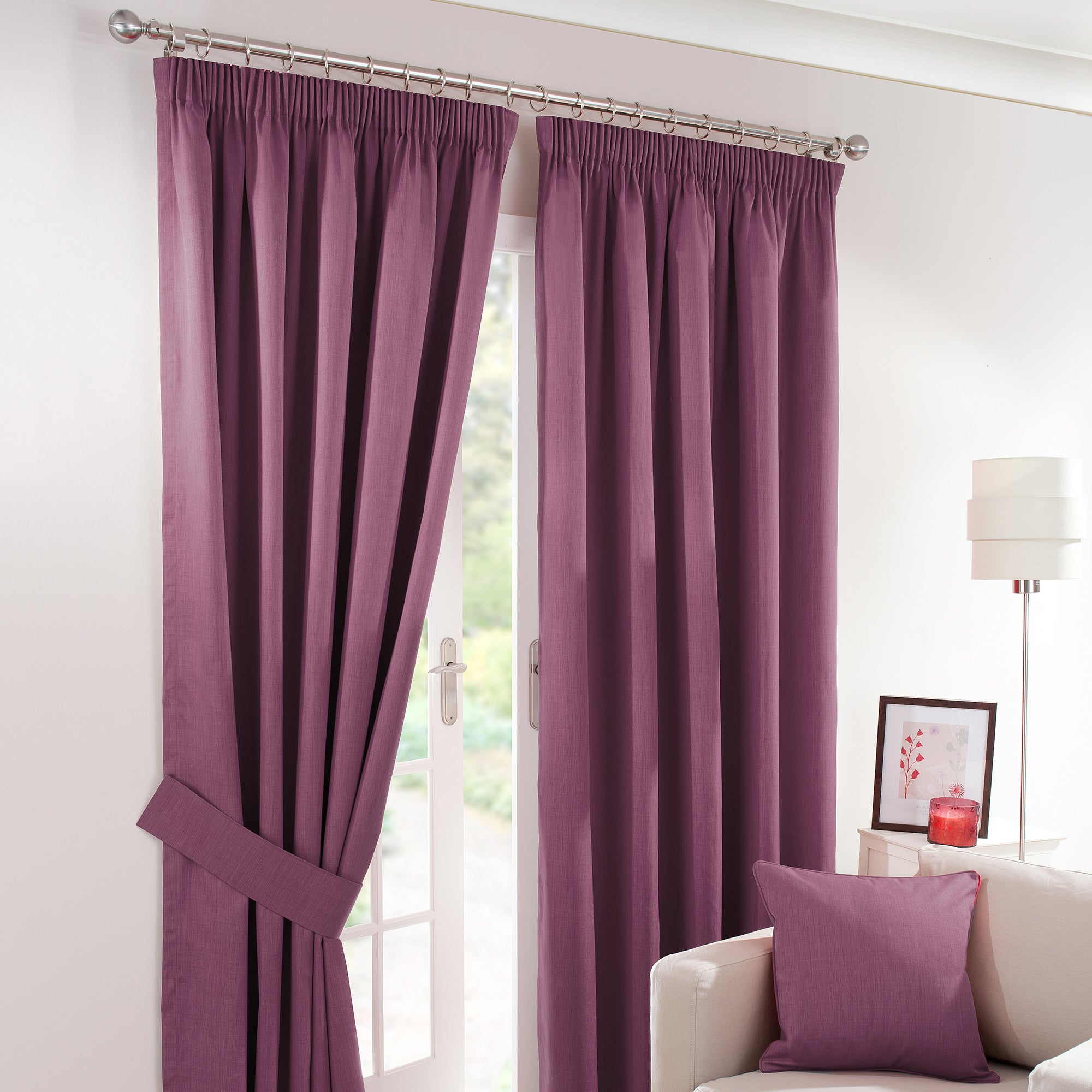 Waters and Noble Aubergine Solar Blackout Curtain Collection
