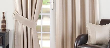 Cream Monaco Curtain Collection