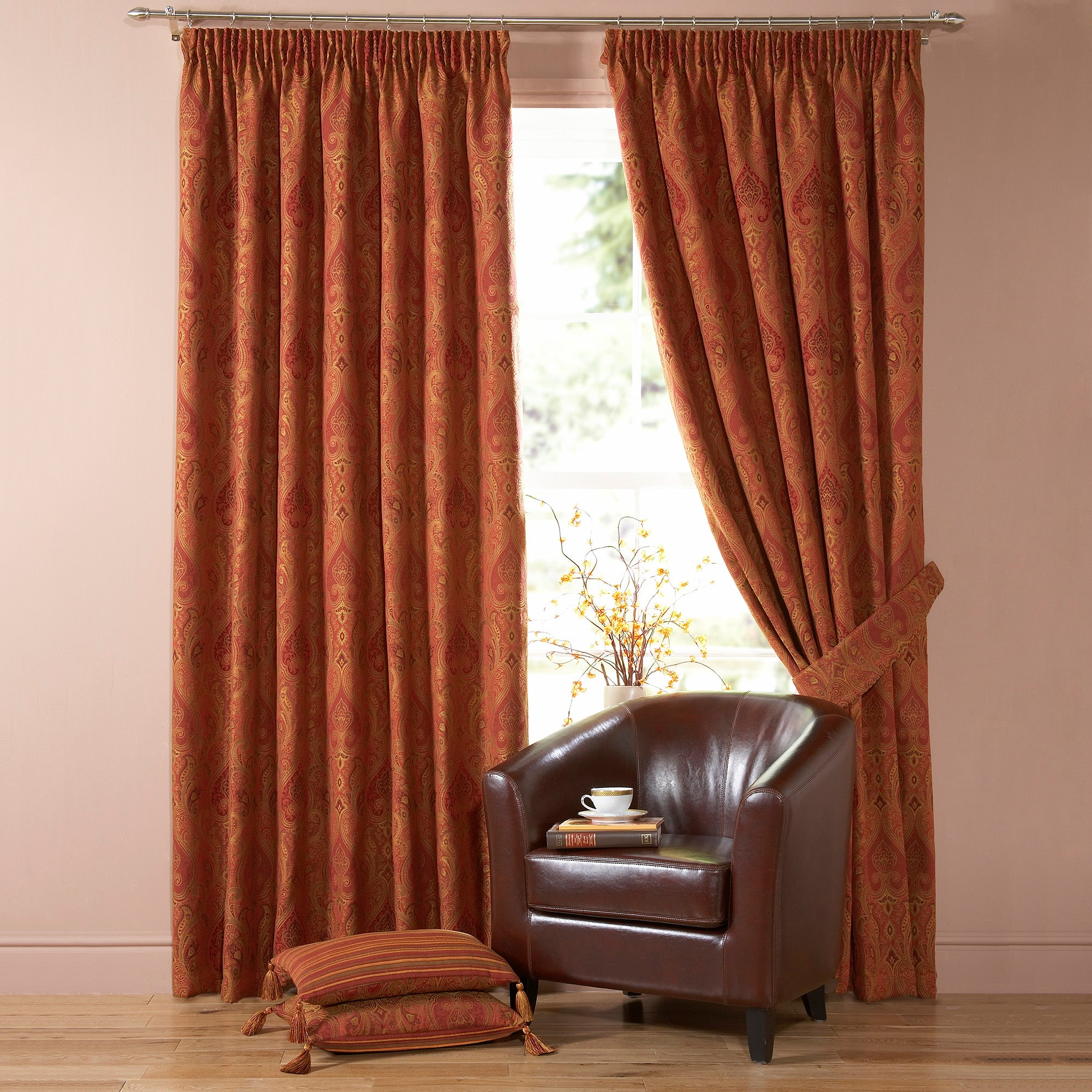 Terracotta Novello Curtain Collection