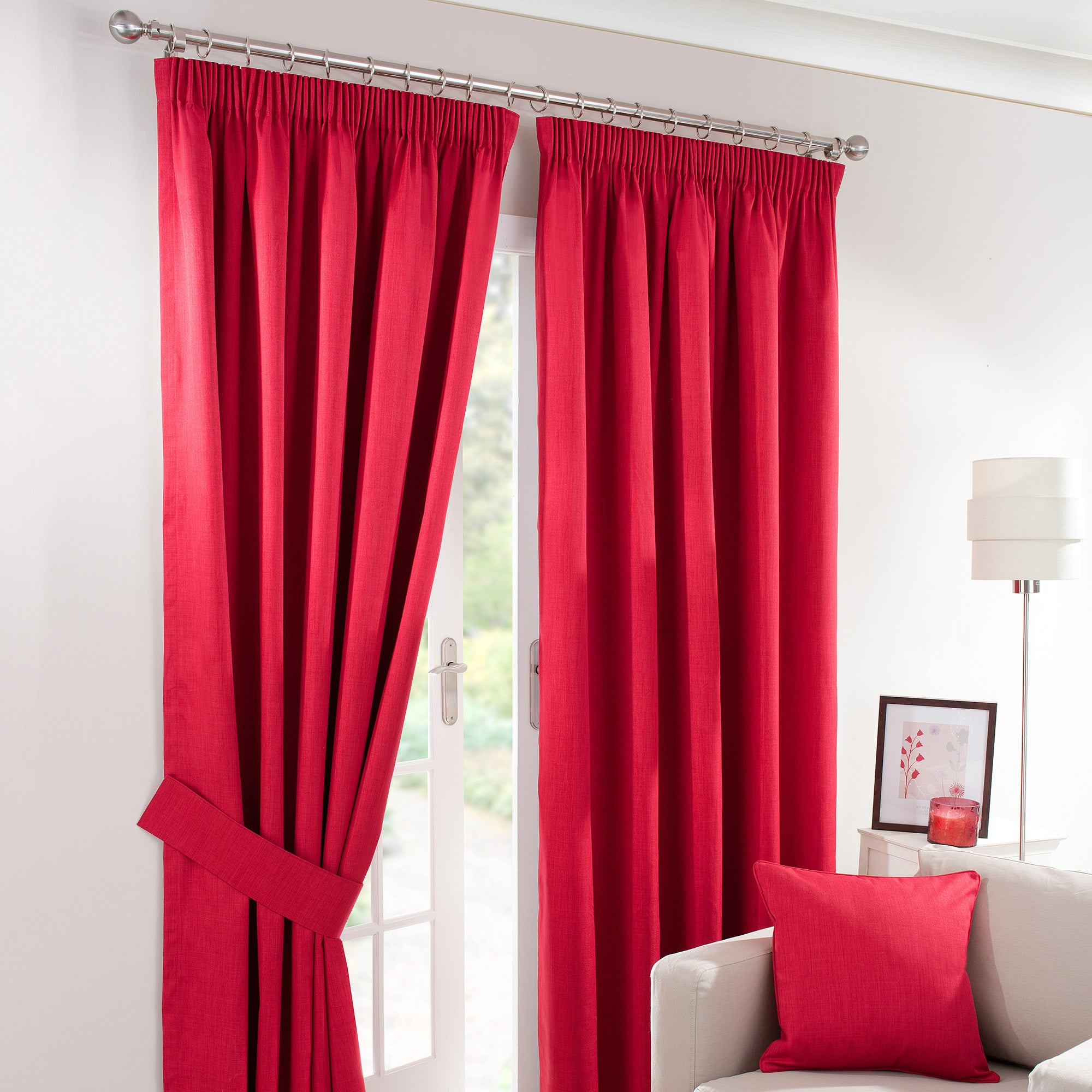 Waters and Noble Red Solar Blackout Curtain Collection