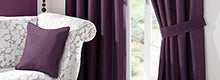 Blackcurrant Sorrento Curtain Collection