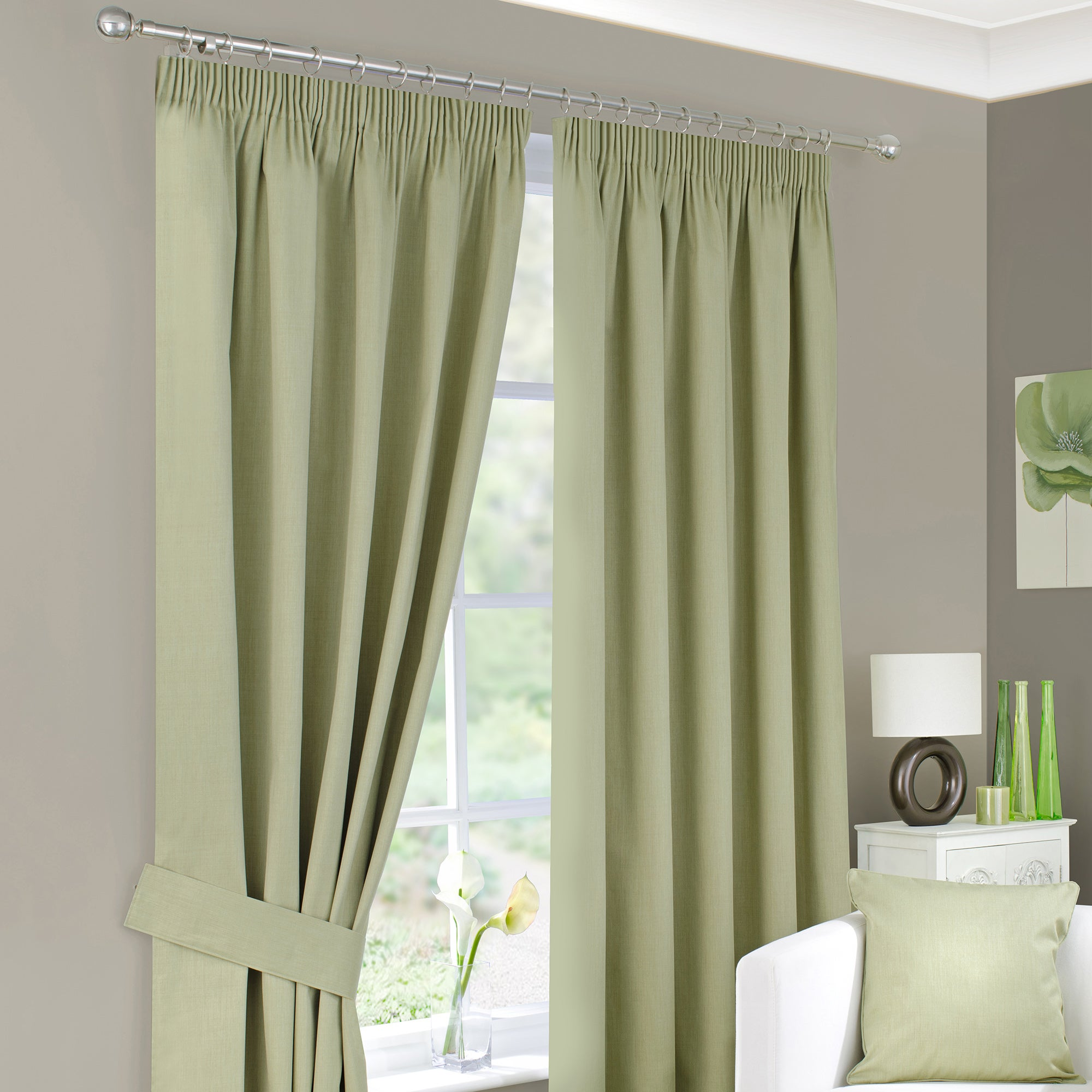 Waters and Noble Green Solar Curtain Collection