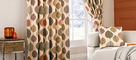 Terracotta Regan Curtain Collection
