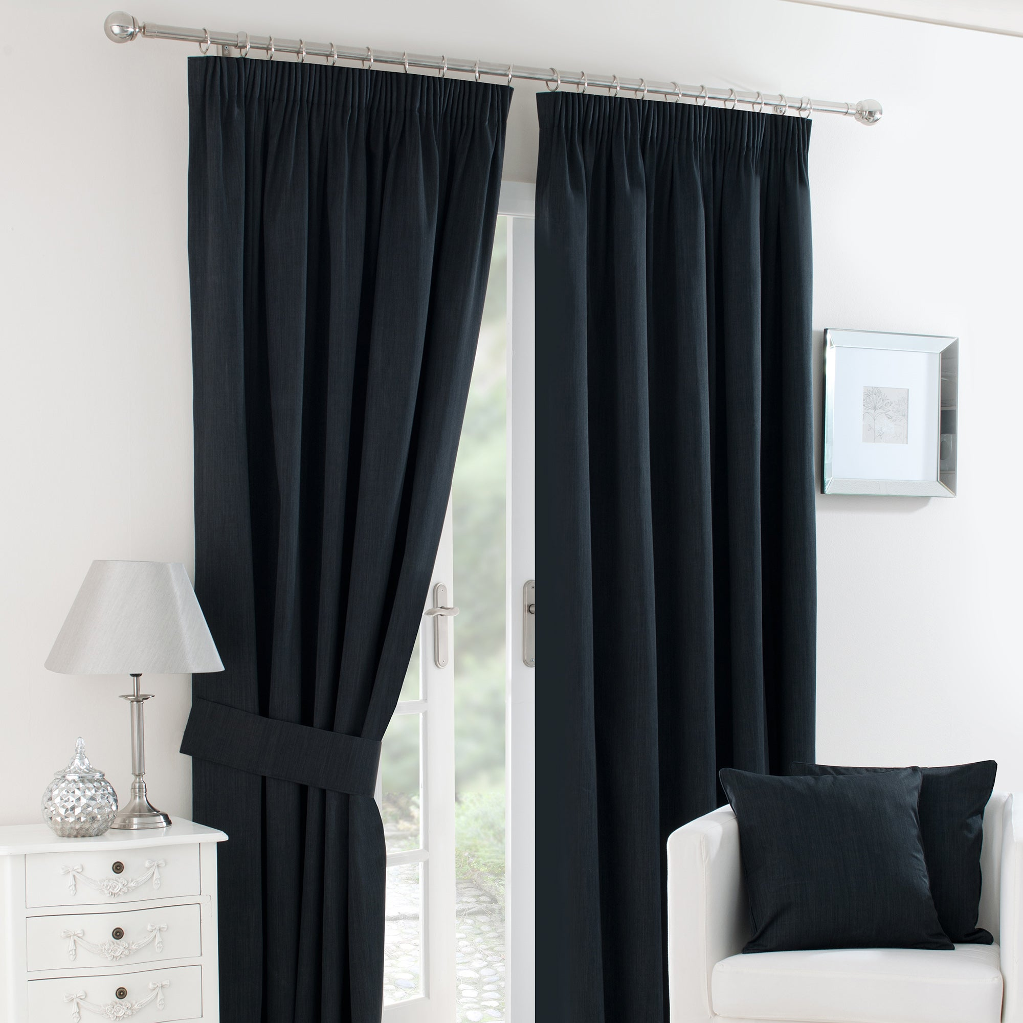 Black Solar Blackout Curtain Collection