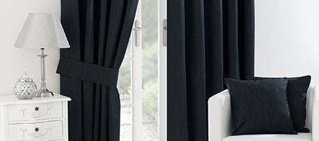 Black Solar Blackout Curtain Collection