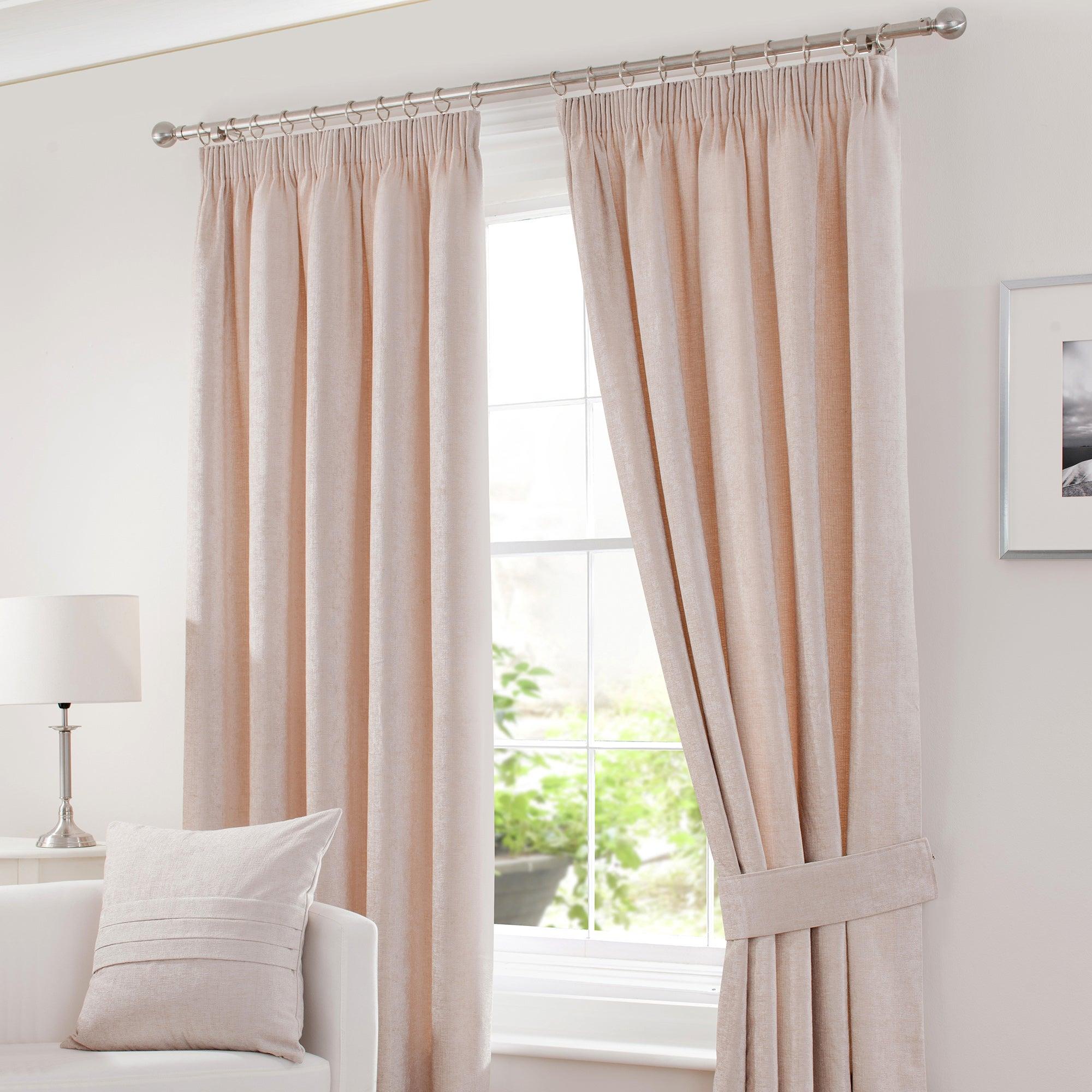 Cream Chenille Pencil Pleat Curtain Collection