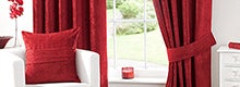 Red Chenille Curtain Collection