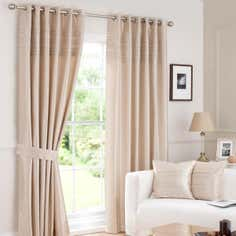 Hotel Oyster Pintuck Curtain Collection
