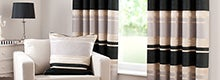 Black Portobello Curtain Collection