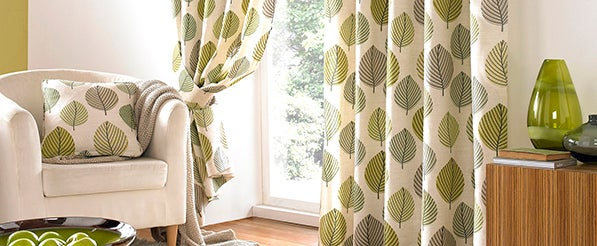 Green Regan Eyelet Curtain Collection