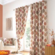 Terracotta Regan Eyelet Curtain Collection