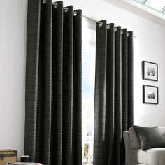 Black Urban Curtain Collection