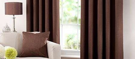 Waters and Noble Chocolate Solar Eyelet Curtain Collection