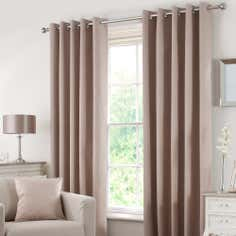 Waters and Noble Biscuit Solar Eyelet Curtain Collection