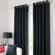 Waters and Noble Black Solar Eyelet Curtain Collection