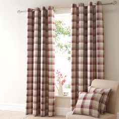 Red Balmoral Curtain Collection
