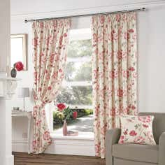 Cranberry Vivien Curtain Collection