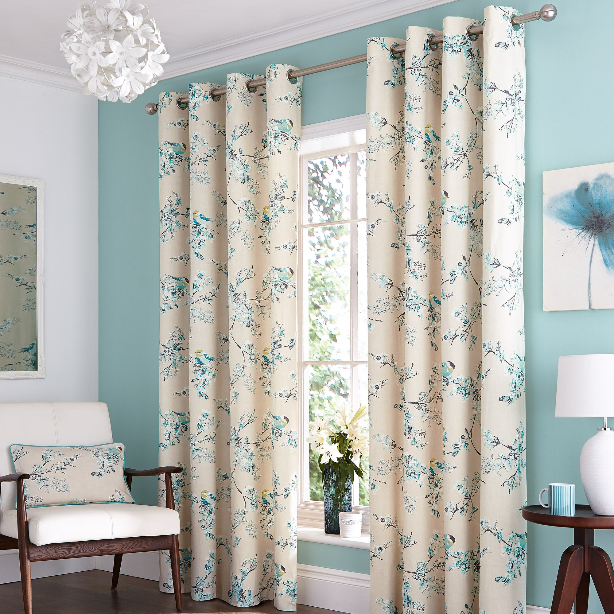 Duck Egg Mila Curtain Collection