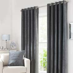 Grey Chenille Curtain Collection