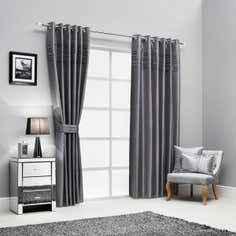 Hotel Silver Pintuck Curtain Collection