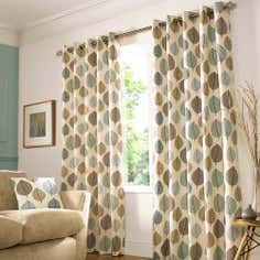 Duck Egg Regan Eyelet Curtain Collection