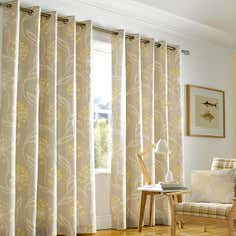 Sunflower Emelie Lined Eyelet Curtain Collection