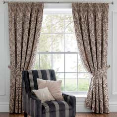 Mink Dorma Belvedere Lined Eyelet Curtain Collection