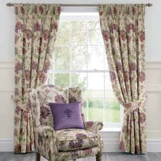 Dorma Plum Bloomsbury Lined Pencil Pleat Curtain Collection