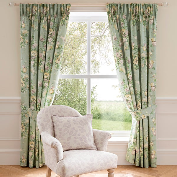 Dorma Duck Egg Brympton Lined Pencil Pleat Curtain Collection