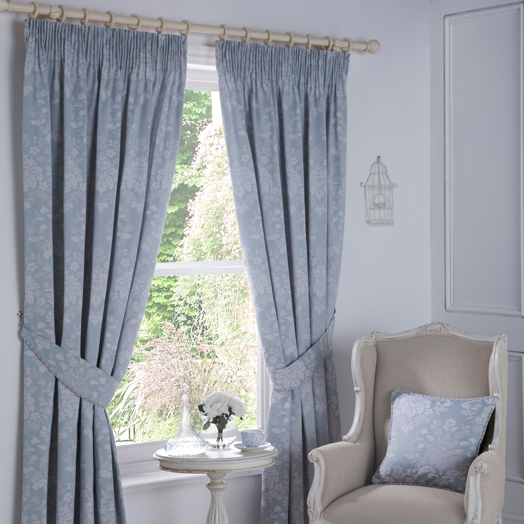 Duck Egg Provence Pencil Pleat Curtain Collection