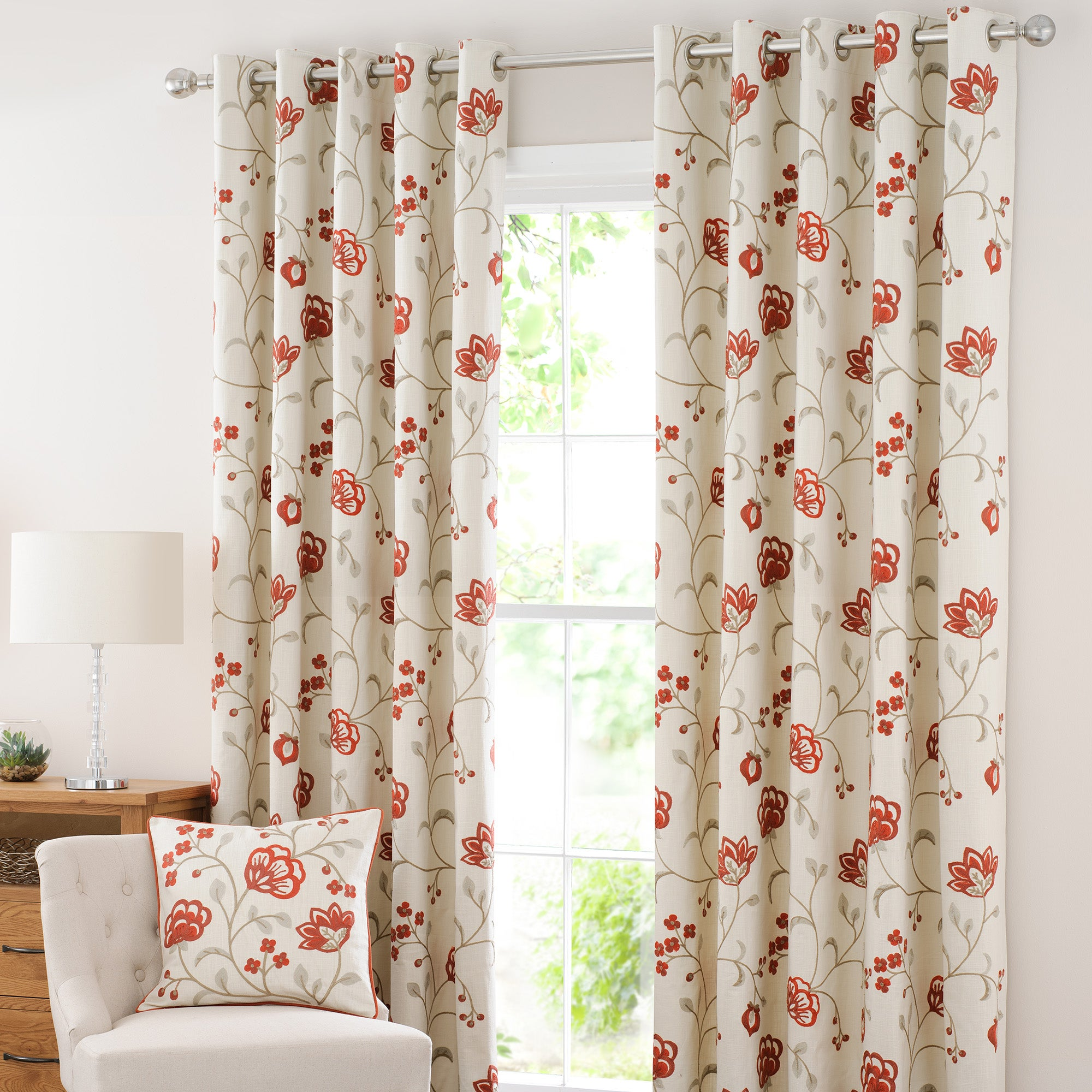 Rust Liberty Eyelet Curtain Collection