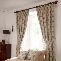 Natural Heritage Tree of Life Lined Pencil Pleat Curtain Collection