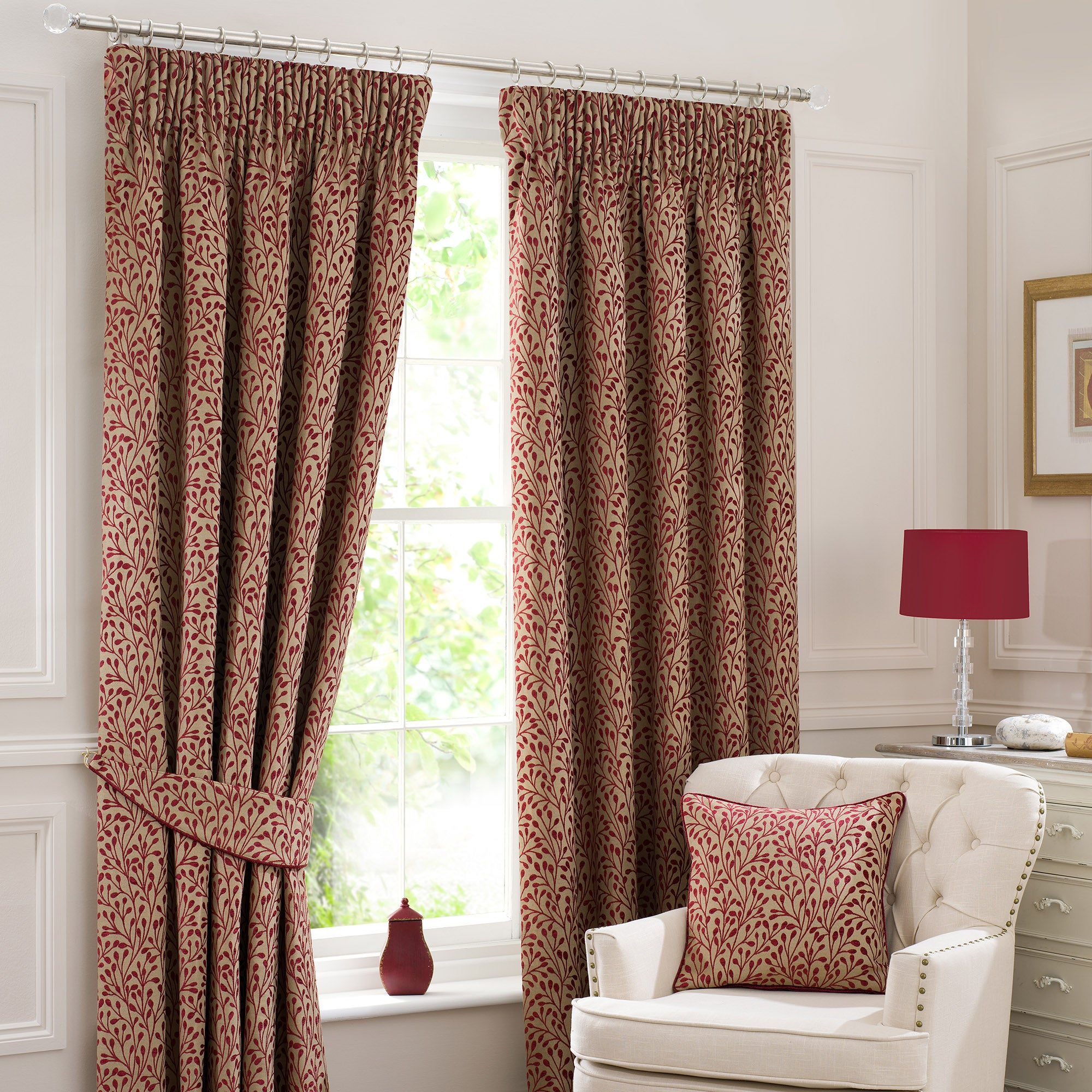 Red Willow Pencil Pleat Curtain Collection