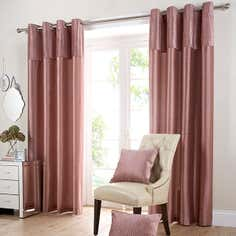 Blush Opulence Eyelet Curtain Collection