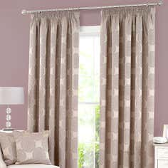 Mauve Chantilly Lined Pencil Pleat Curtain Collection