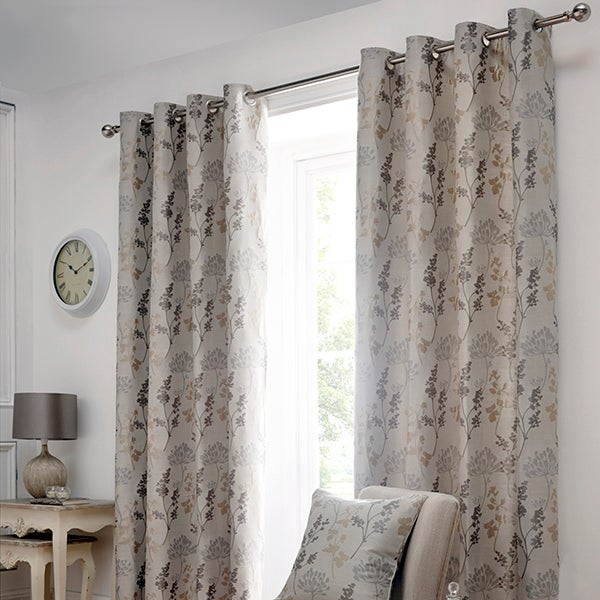 Natural Hawthorn Lined Eyelet Curtain Collection