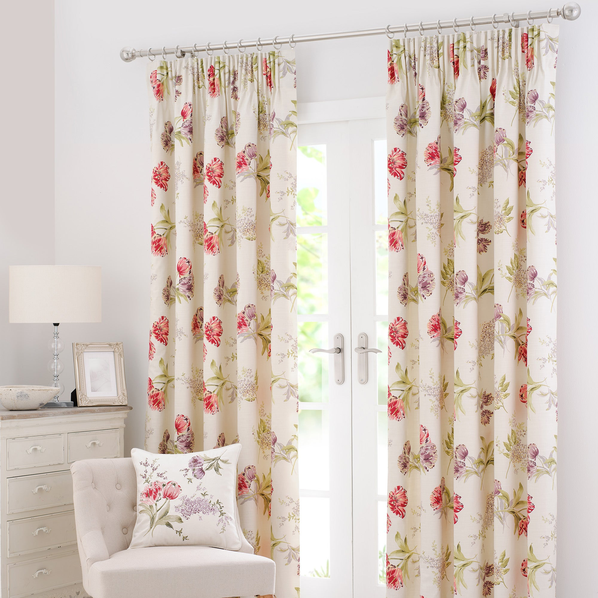 Red Tulip Curtain Collection