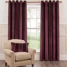 Dorma Plum Fairmont Lined Eyelet Curtain Collection