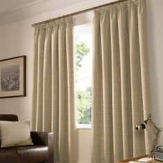 Latte Urban Lined Pencil Pleat Curtain Collection