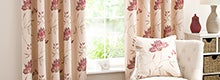 Red Amelia Lined Eyelet Curtain Collection