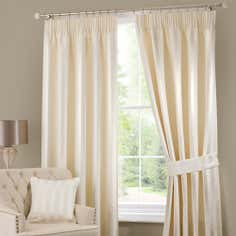 Cream Palais Pencil Pleat Curtain Collection