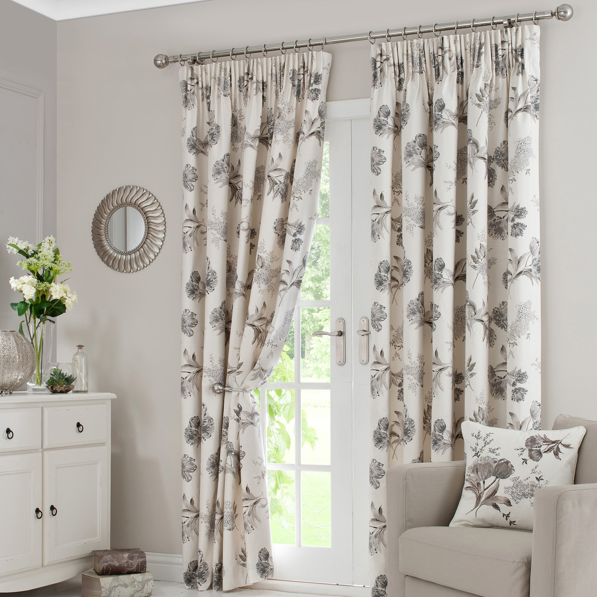Natural Tulip Pencil Pleat Curtain Collection