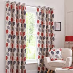 Red Turin Eyelet Curtain Collection